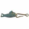 Hook & Eye - Fish 55x13mm Patina Finish